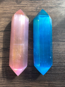 Angel Aura Selenite DT Point/Wand