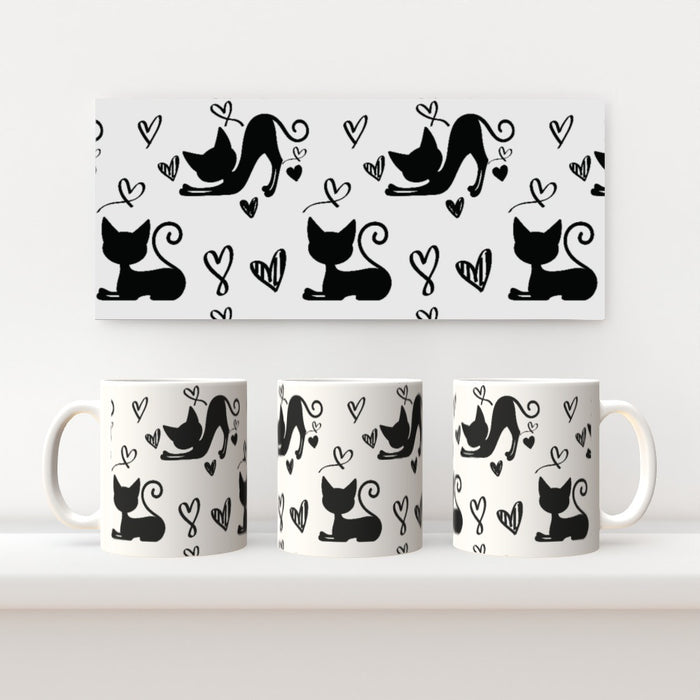 11oz Ceramic Mug - Cats - printonitshop