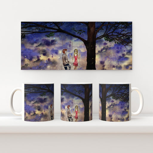 11oz Ceramic Mug - Night Swinging - printonitshop