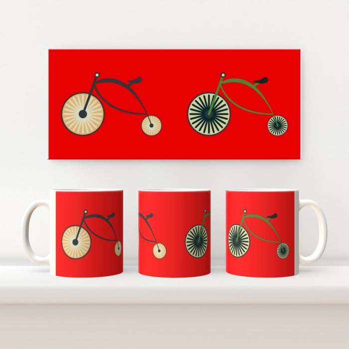 11oz Ceramic Mug - On Ya Bike Red - printonitshop