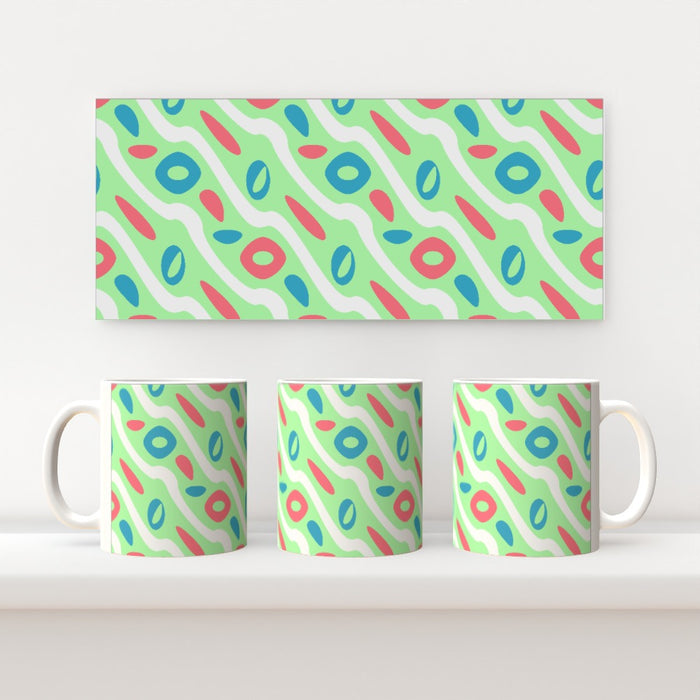 11oz Ceramic Mug - Pattern Green - printonitshop
