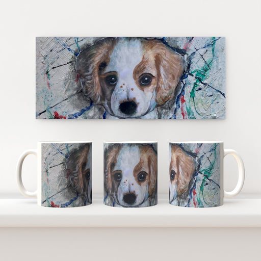 11oz Ceramic Mug - Pupply Love - CJ Designs - printonitshop