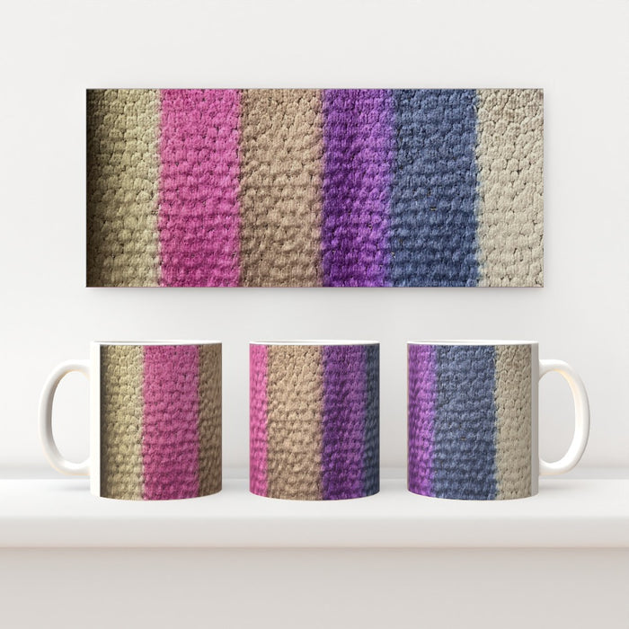 11oz Ceramic Mug - Velvet Stripes - CJ Designs - printonitshop