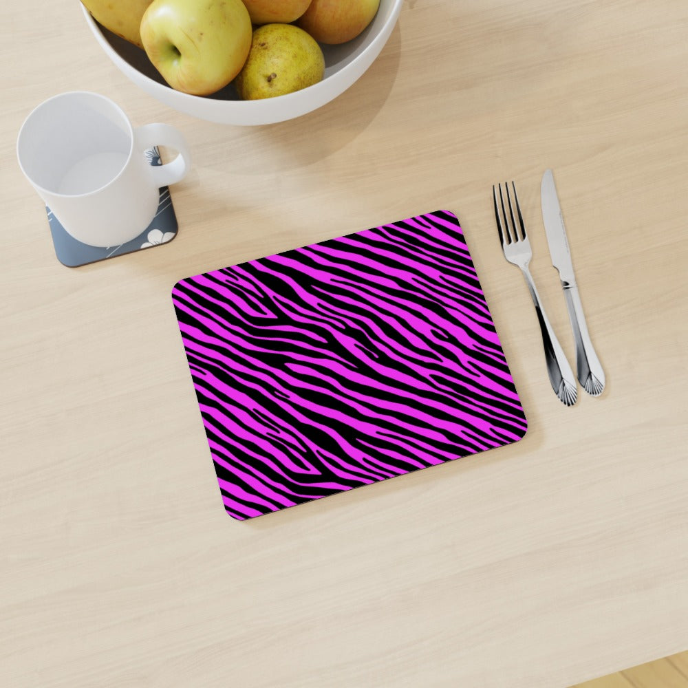 Placemat - Pink Zebra by  Print On It