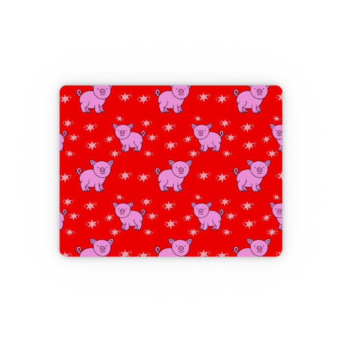 Placemat - Pigs Red - printonitshop