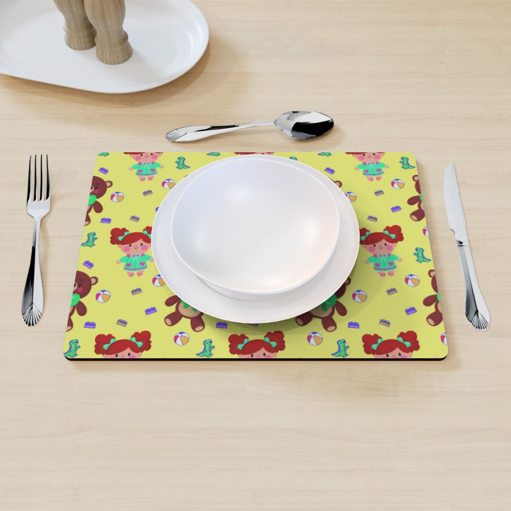 Placemat - Toys Yellow by  Print On It