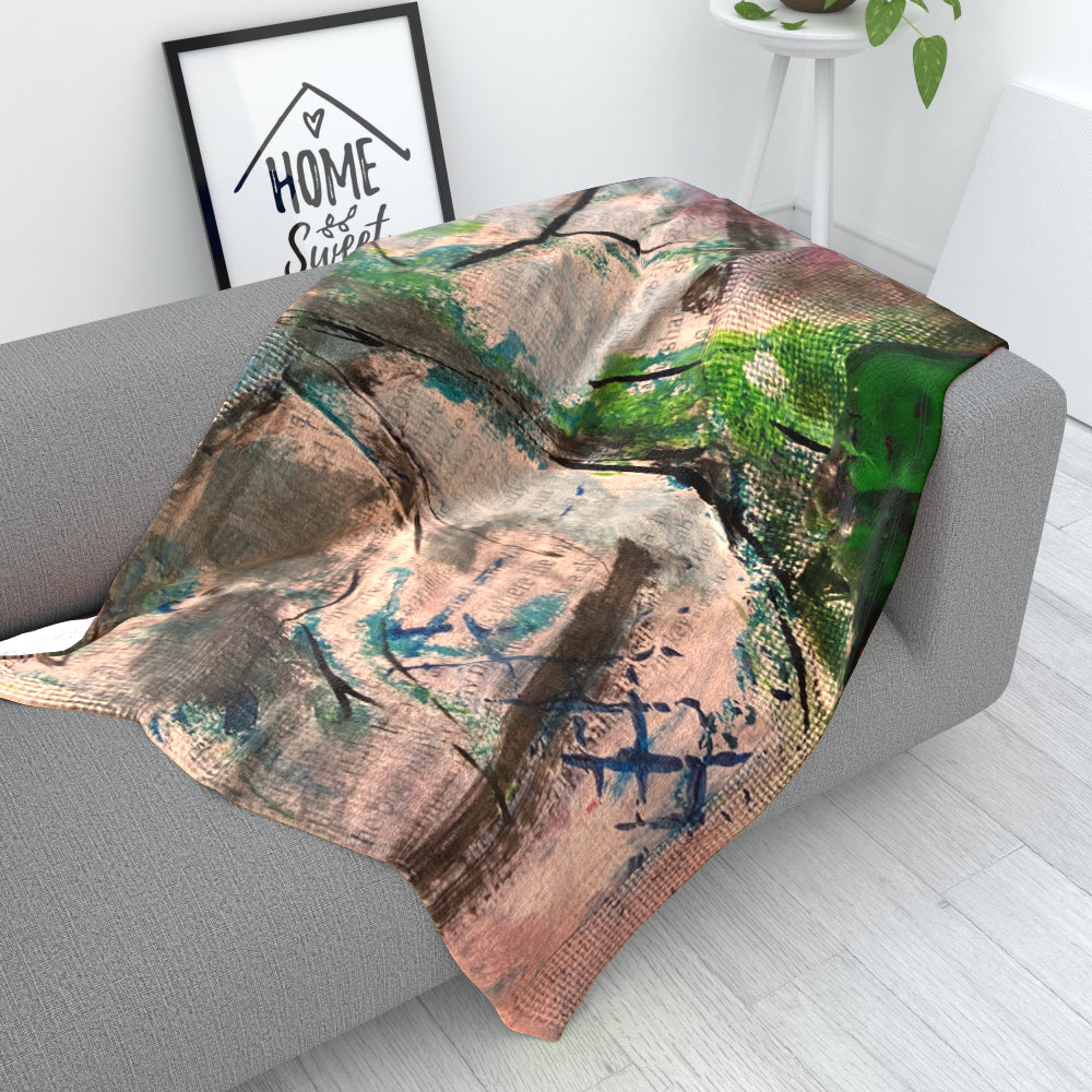 Blanket Throws - Tree Of Life 3 - CJ Designs by  Print On It