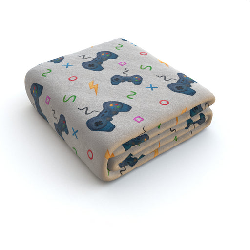 Blanket - Pale Grey Gaming - printonitshop
