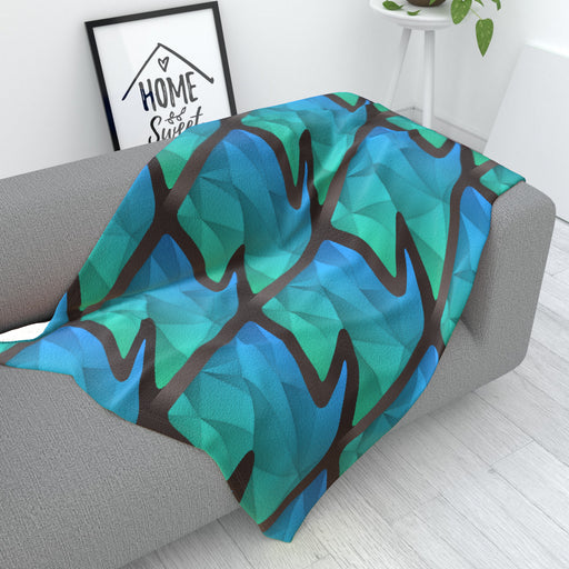 Blanket - Abstract Waves Blue/Green - printonitshop