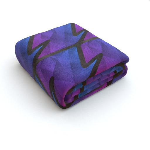 Blanket - Abstract Waves Blue/Purple - printonitshop