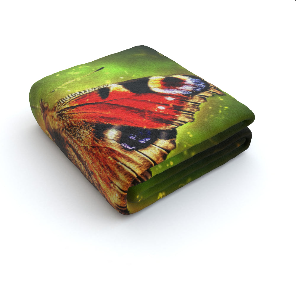 Blanket Throws - Digital Butterfly, Linens & Bedding by Print On It
