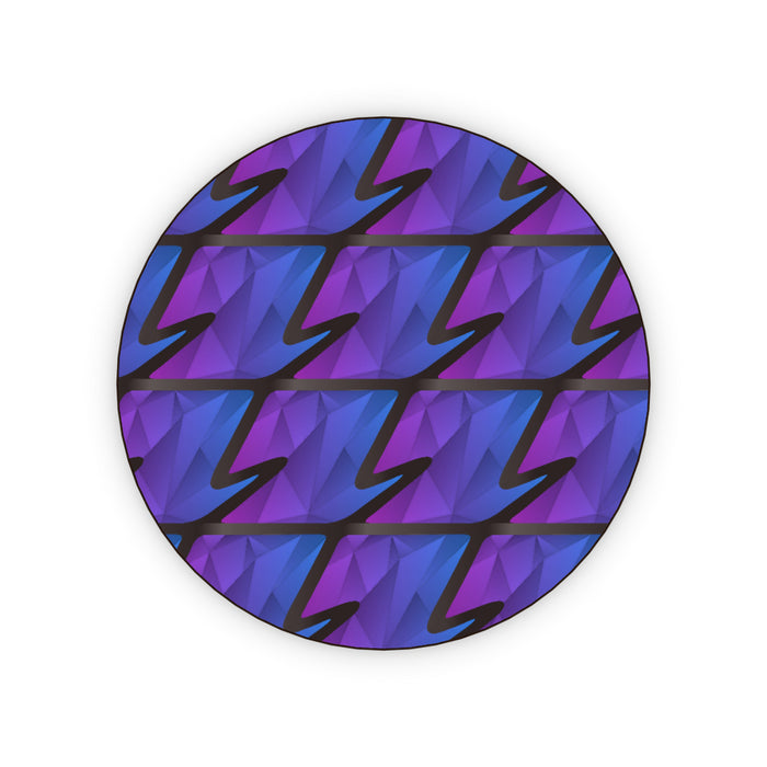 Coasters - Abstract Waves Blue/Purple - printonitshop