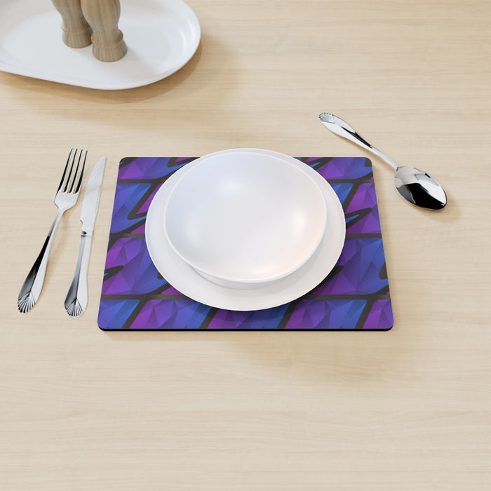 Placemat - Abstract Waves Blue/Purple - printonitshop