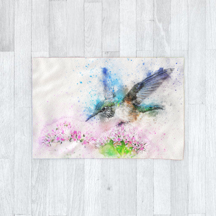 Blanket - Watercolour Hummingbird - printonitshop