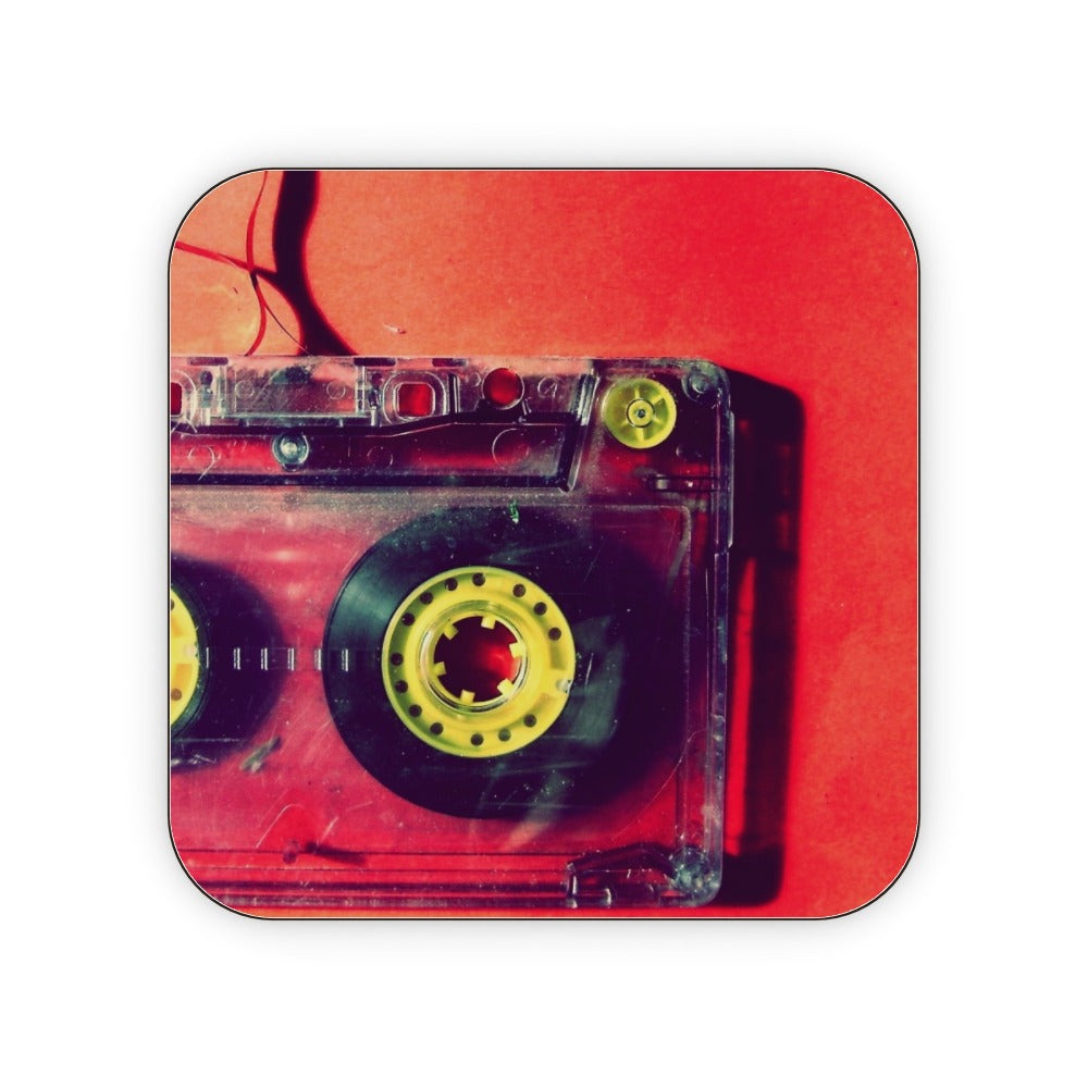 Coasters - Cassette Red, Kitchen & Dining by Print On It