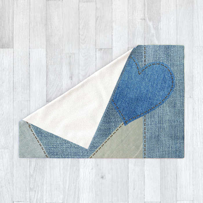 Blanket - Denim Heart - printonitshop