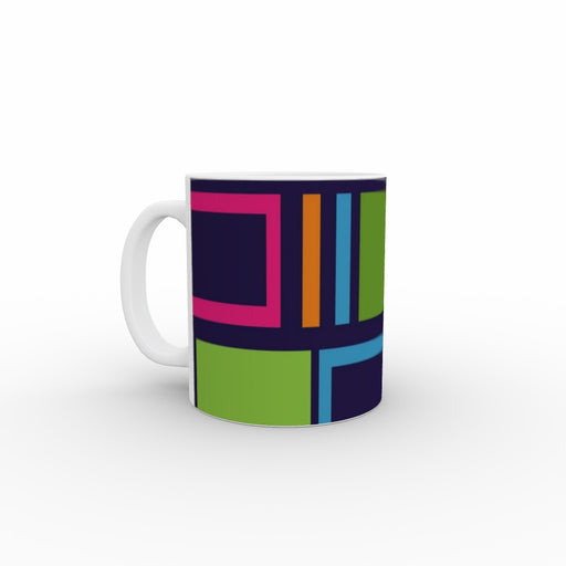 11oz Ceramic Mug - Abstract Blocks - printonitshop