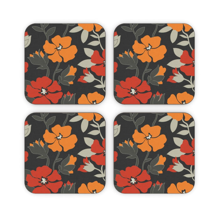 Coasters - Orange Flowers - printonitshop