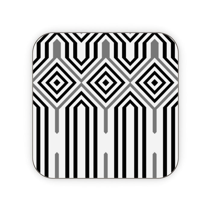 Coasters - Black and White Structure - printonitshop
