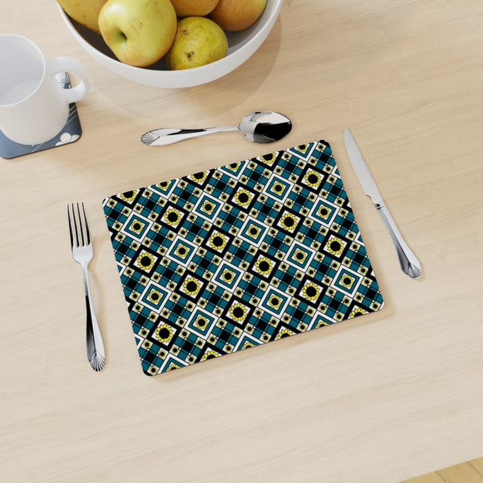 Placemat - Geometric Sunflowers - printonitshop