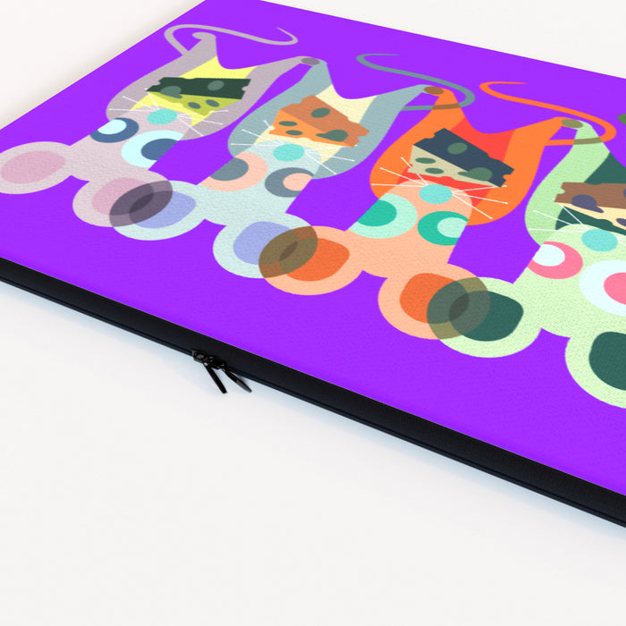 Laptop Skin - Mice on Purple - printonitshop