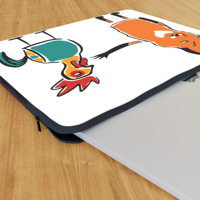 Laptop Skin - Fox and Chicken - printonitshop