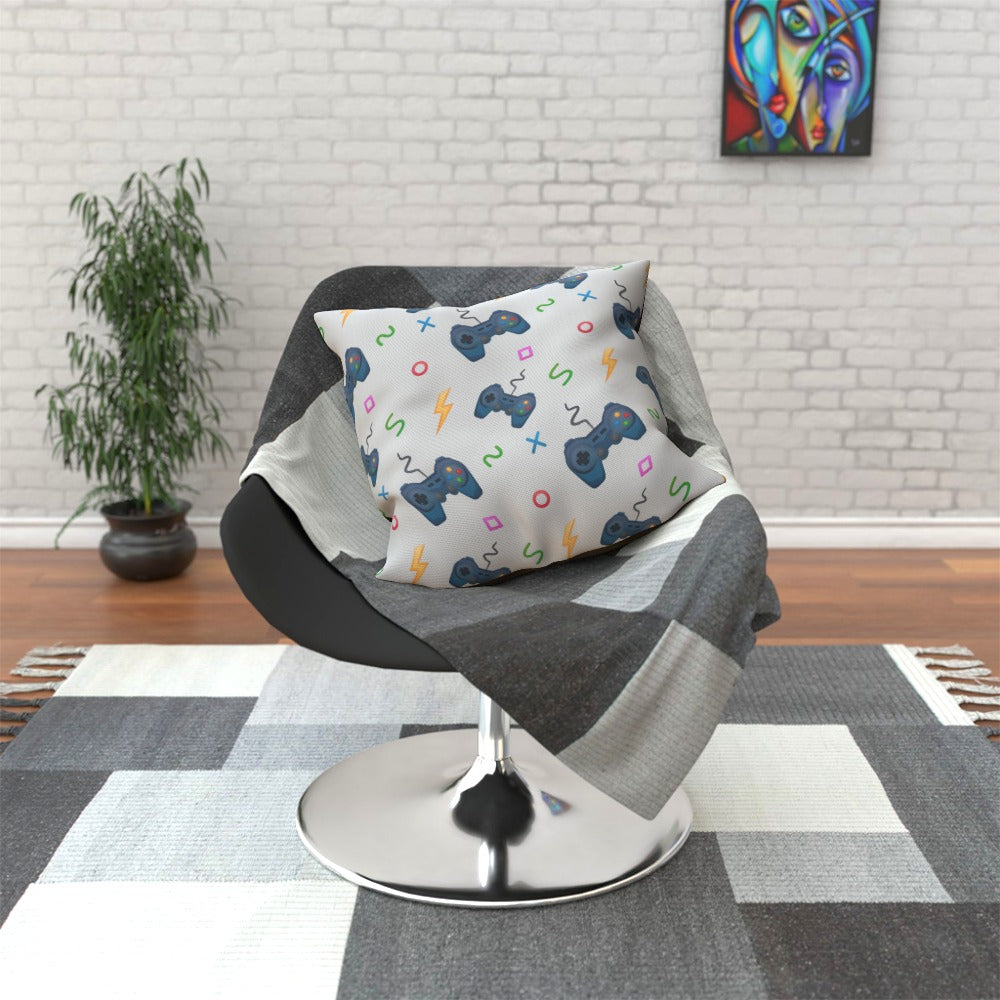 Cushion - Pale Grey Gaming by  Print On It