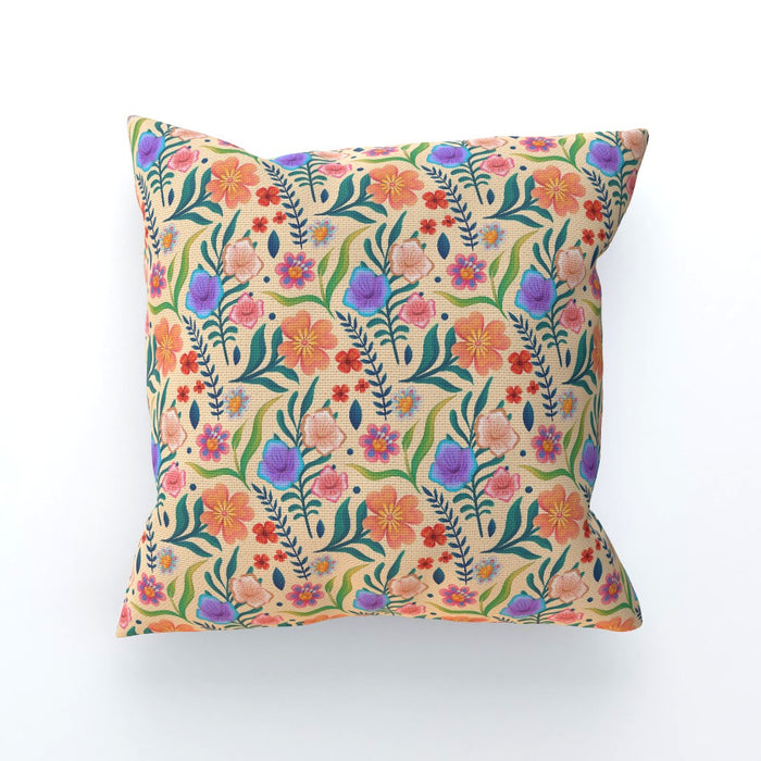 Cushions - Very Floral Yellow - printonitshop