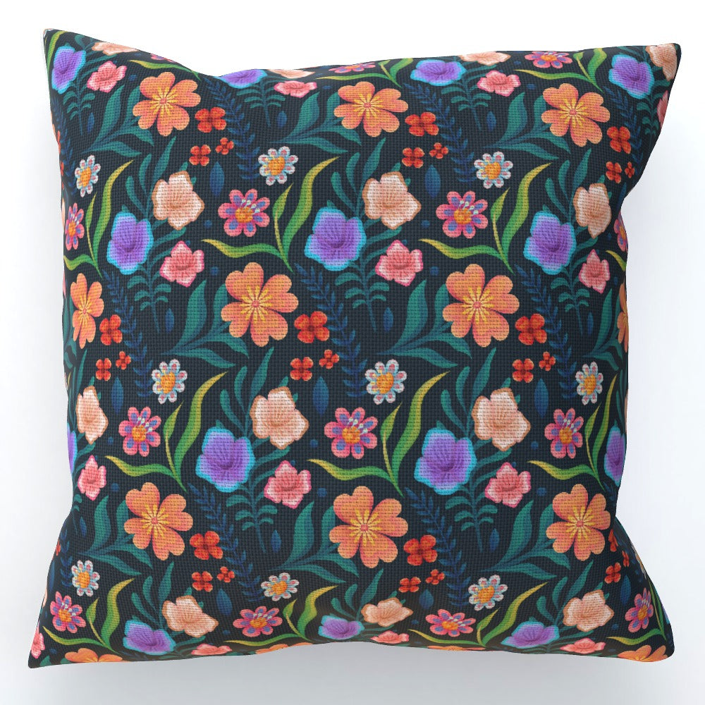 Cushion - Very Floral Dark by  Print On It