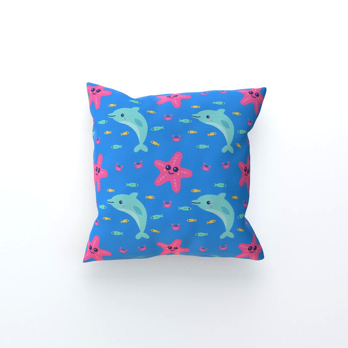 Cushions - Dolphin and Starfish Blue - printonitshop