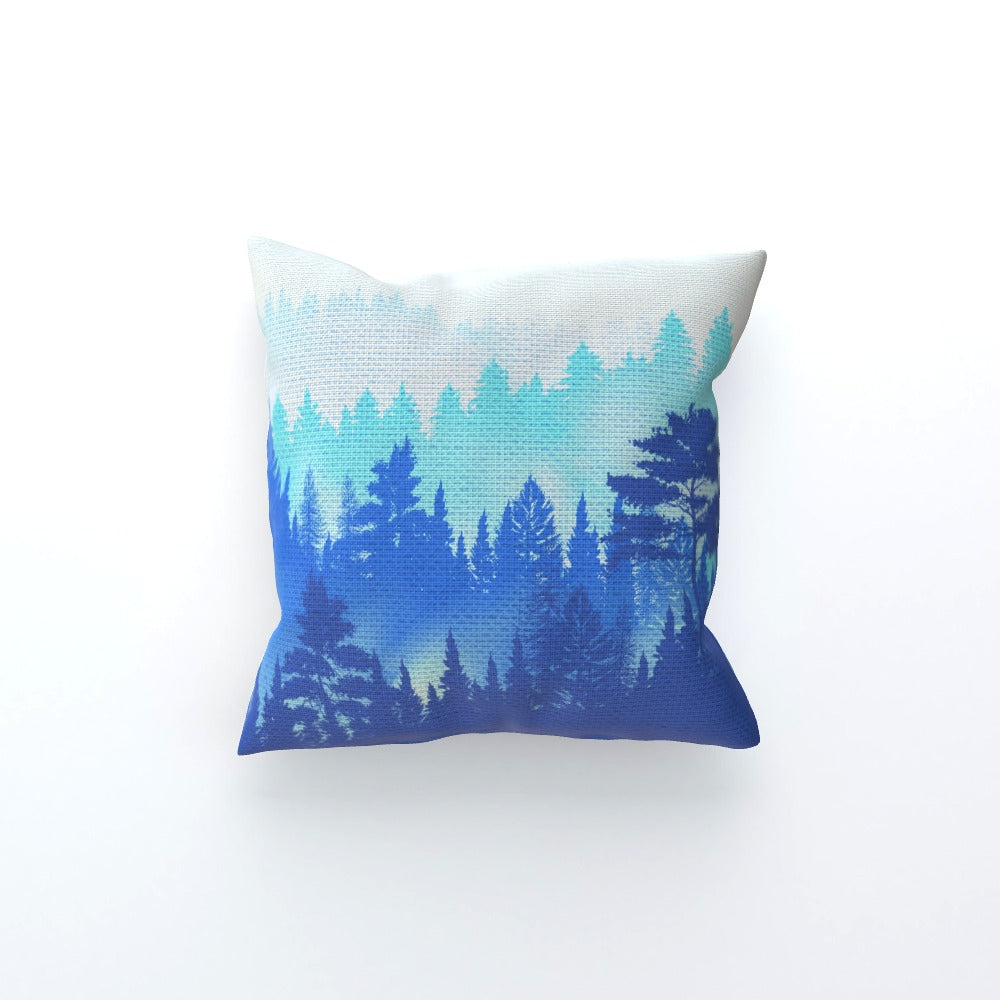 Cushion - Forrest Blue by  Print On It