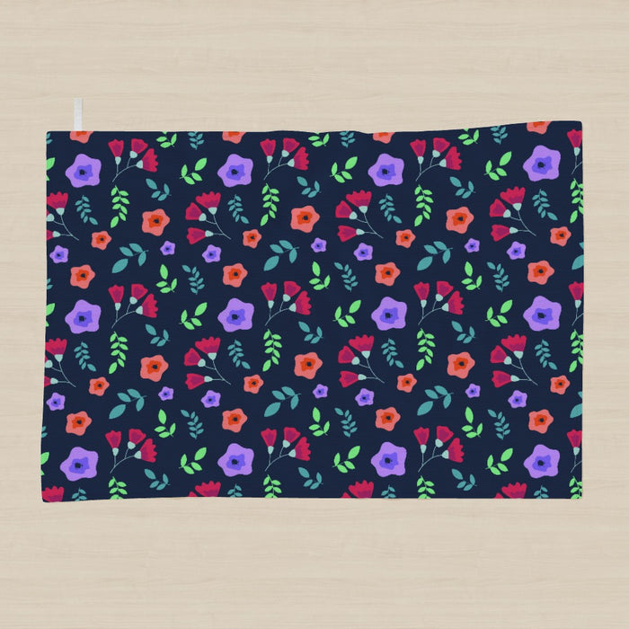 Tea Towel - Dark Floral - printonitshop
