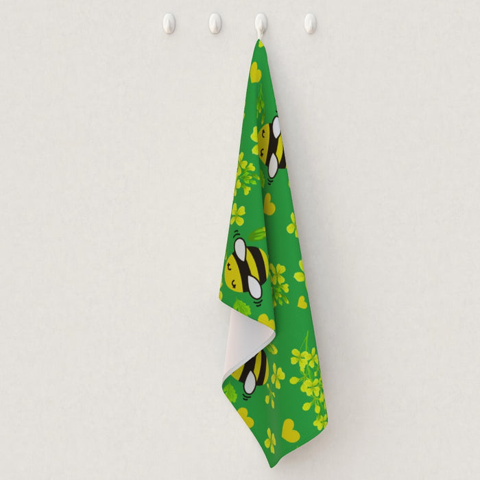 Tea Towel - Bees on Green - printonitshop