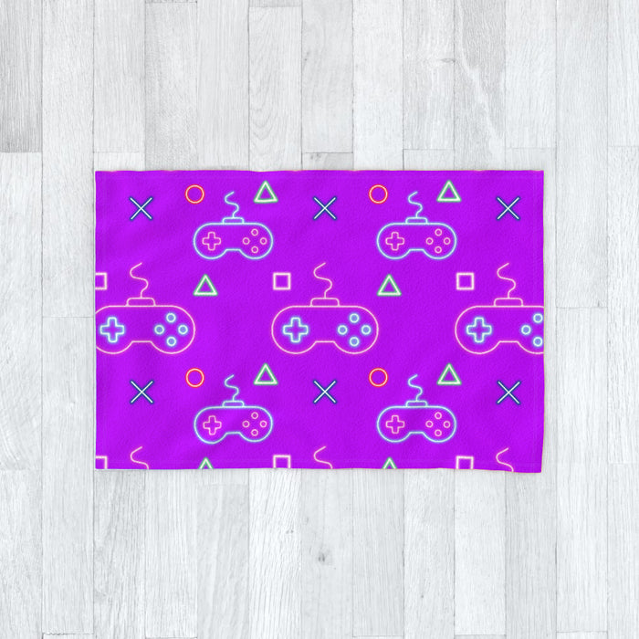 Blanket - Gaming Neon Purple - printonitshop
