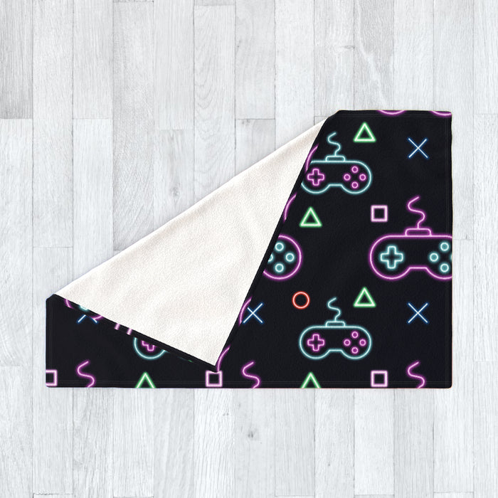 Blanket - Gaming Neon Black