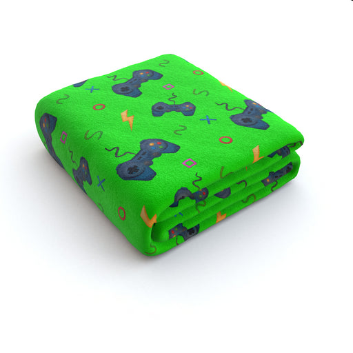 Blanket - Bright Green Gaming - printonitshop