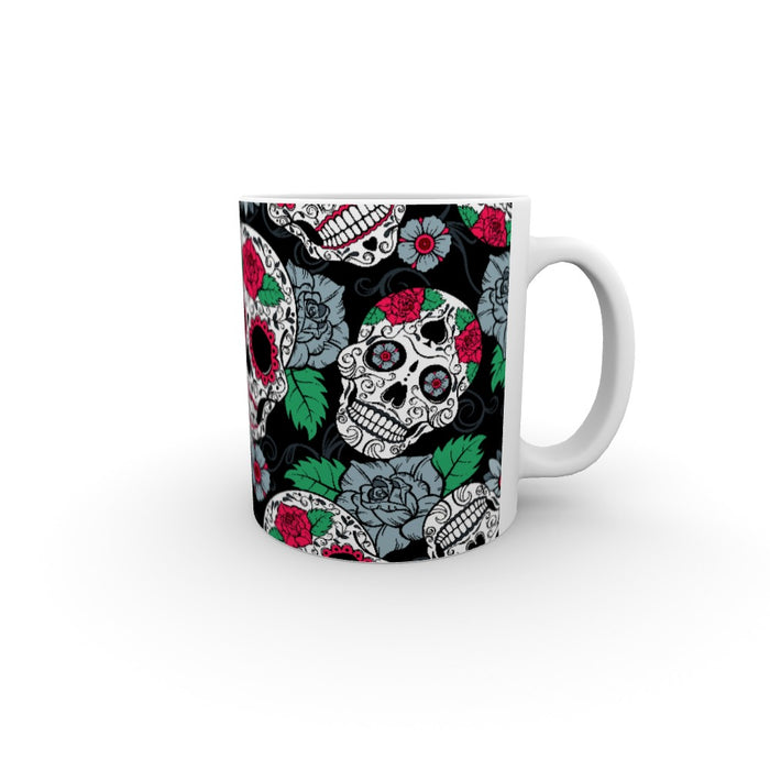 11oz Ceramic Mug - Skulls and Roses - printonitshop