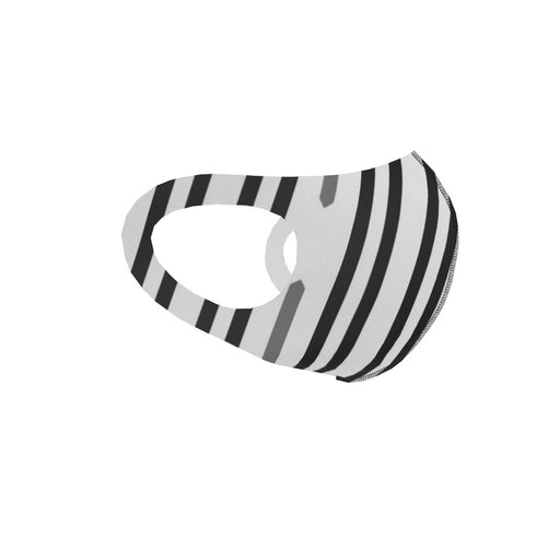 Ear Loop Mask - Black and White Structure - printonitshop
