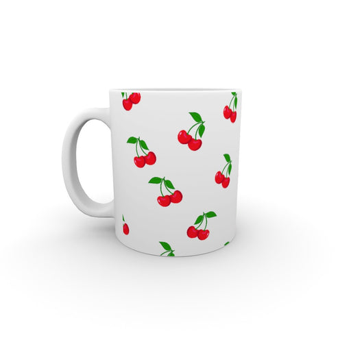 11oz Ceramic Mug - White Cherries - printonitshop