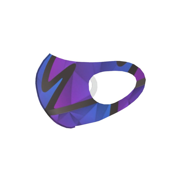 Ear Loop Mask - Abstract Waves Blue / Purple - printonitshop