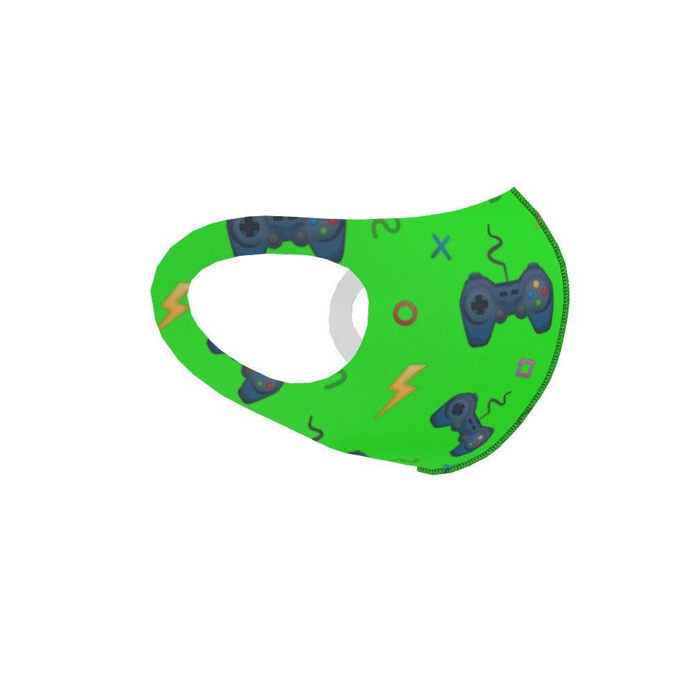 Ear Loop Mask - Bright Green Gaming by  Print On It