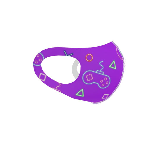 Ear Loop Mask - Gaming Neon Purple - printonitshop