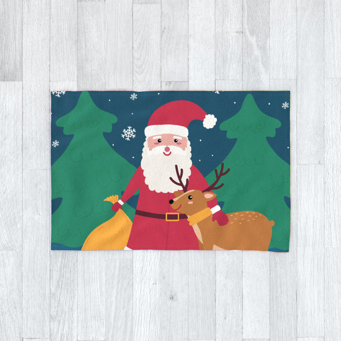 Blanket - Santa and the Reindeer - printonitshop