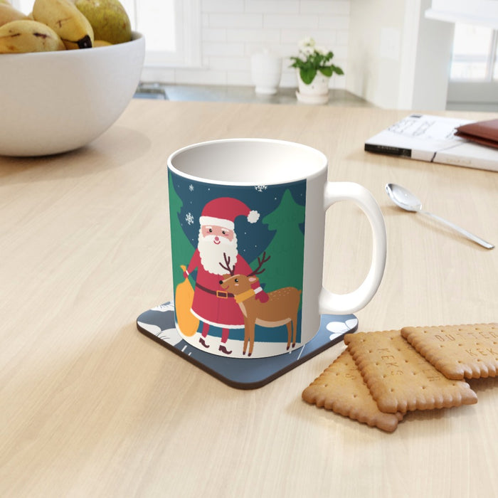 11oz Ceramic Mug - Santa and the Reindeer - printonitshop