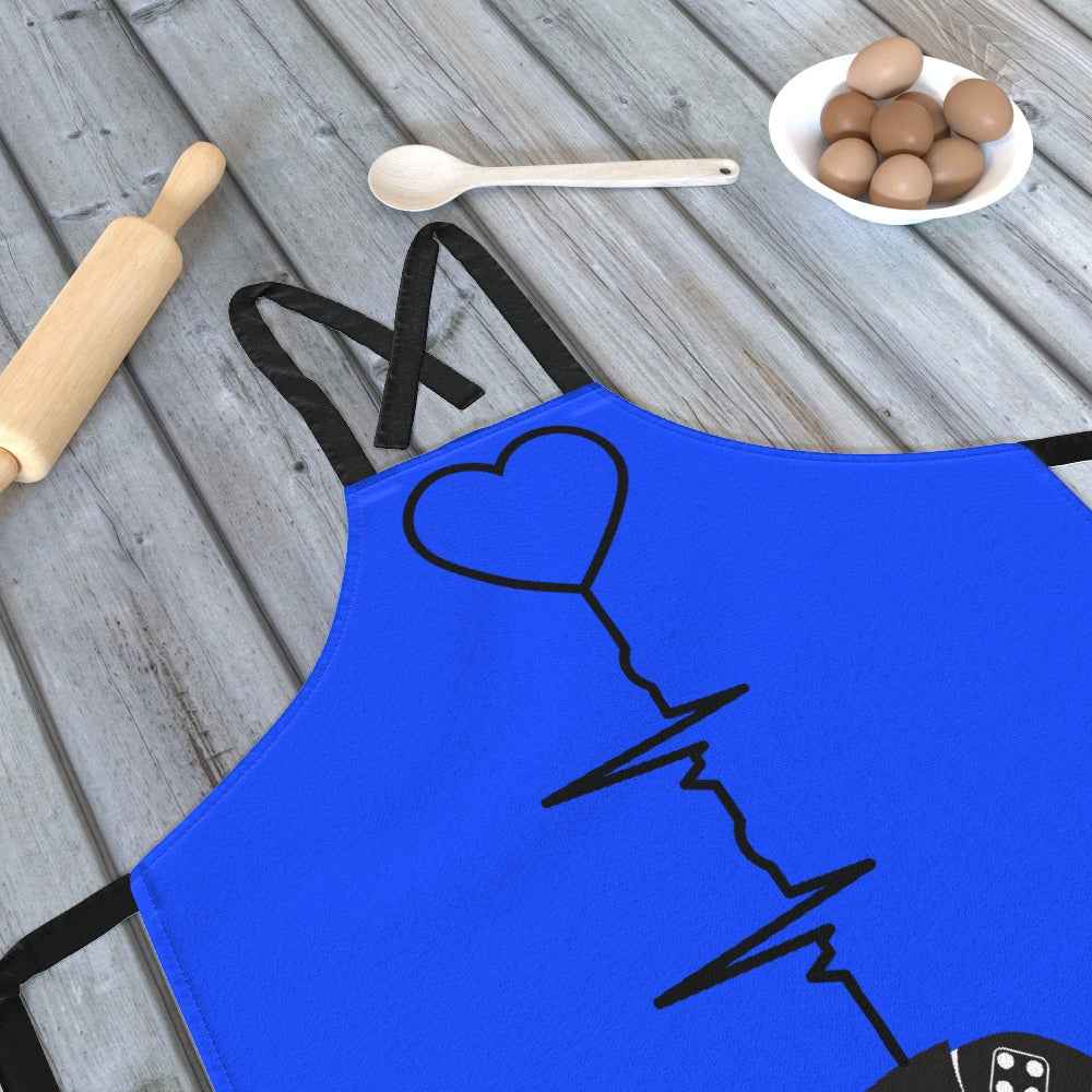 Apron - Gaming Heartbeat by  Print On It
