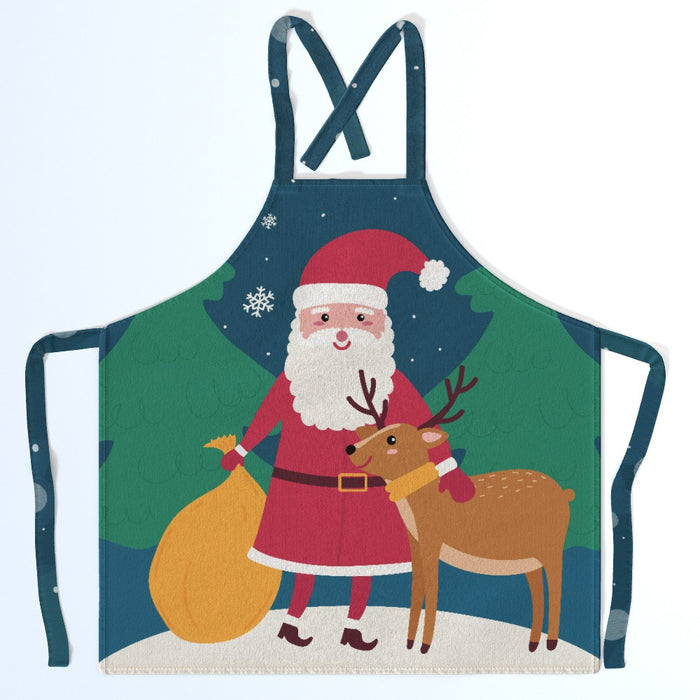 Apron - Santa and the Reindeer - printonitshop