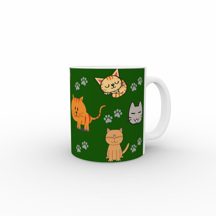 11oz Ceramic Mug - Cat Friends - printonitshop