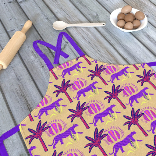 Apron - Purple Panthers - printonitshop
