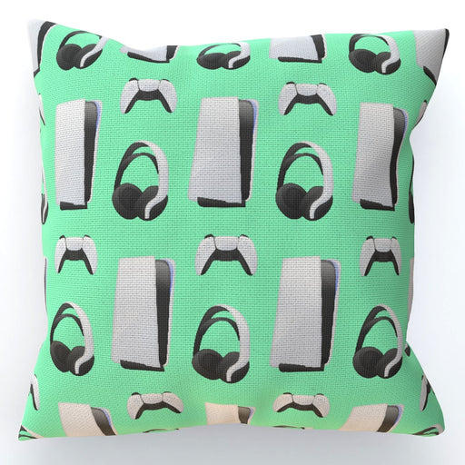 Cushion - PS New Gaming Light Green - printonitshop