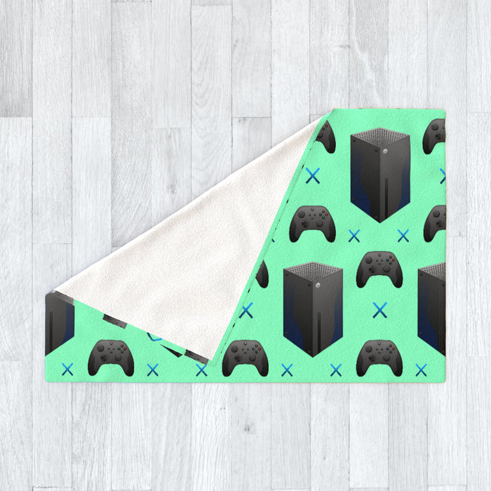 Blanket - X Boxing Bright Green - printonitshop